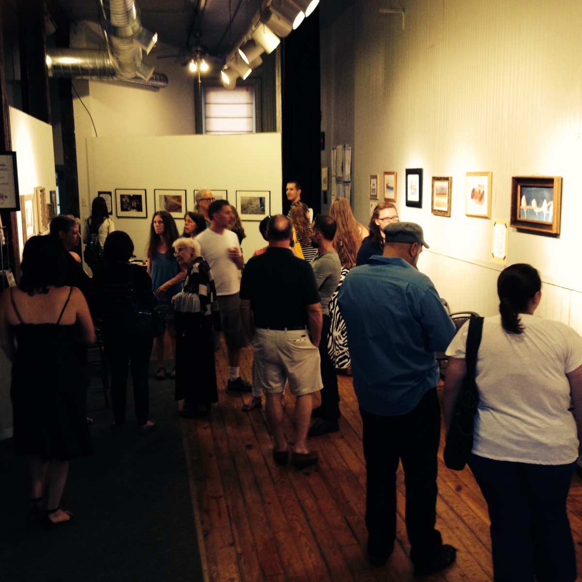 Gallery opening featuring work by our students
